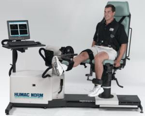 Valutazione isocinetica test del ginocchio